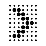 Design element with dots arrow icon, simple style Royalty Free Stock Photo