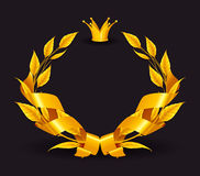 Design Element, Emblem gold Stock Images