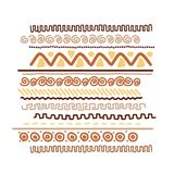 Design element with ethnic handmade ornament Royalty Free Stock Photos