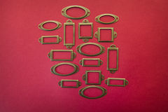 Design element frame for sale on a red background Royalty Free Stock Photos