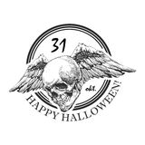 Design element for halloween. hand drawn. vector Stock Images