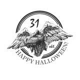 Design element for halloween. hand drawn. vector Stock Photos