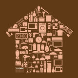 Design element household in home shape Stock Images