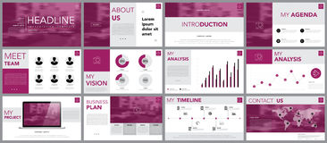 Design element of infographics for presentations templates. Royalty Free Stock Photography