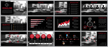 Design element of infographics for presentations templates. Stock Image