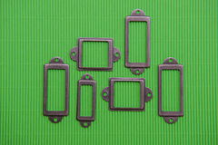 Design element, a lot of frames on a green background Stock Photos