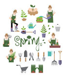 Design element of nature for spring and summer season Royalty Free Stock Photo