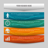 Design element page booklet style infographics04. Design business presentation template. Vector illustration for technology infographics, number banners, charts Royalty Free Stock Image