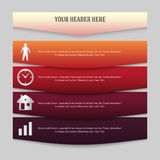 Design element page booklet style infographics02. Design business presentation template. Vector illustration for technology infographics, number banners, charts Royalty Free Stock Photo