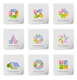 Design element post its. An illustration of colorful design elements on post its Stock Image