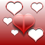 Design element - red 3D heart. Stock Photography