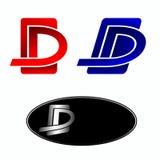 Design element red letter D Stock Photo