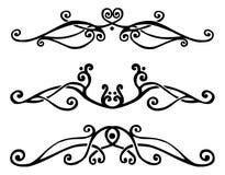 Design element set. Set of floral design elements for text decoration Stock Image