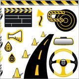 Design Element Set1. (Black and Yellow stock illustration