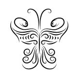 Design element in the shape of a butterfly Stock Images