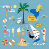 Design element for summer vacation Stock Images