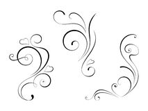 Design element (swirls) Royalty Free Stock Images