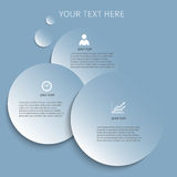 Design element template presentation guide leader01. Design elements business presentation template. Vector illustration style infographics, web banners, charts Royalty Free Stock Photography