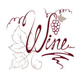Design element -- title wine Stock Photos