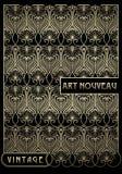 Design element w sztuki nouveau stylu Wysokiej jakości pociągany ręcznie praca ilustracji