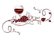 Design element -- Wine title. Illustration, design element -- Wine title Stock Photo