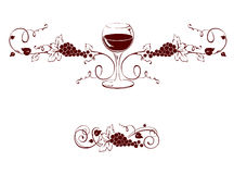 Design element -- Wine title Stock Photos
