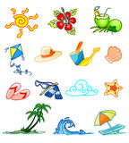 Design elements. A collection of summer design elements Royalty Free Stock Photo
