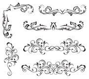Design elements. Ornate elements for decor, Illustration Stock Images