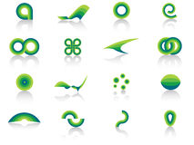 Design elements. Collection of green blue design elements Stock Photos