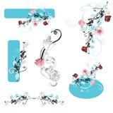 Design elements. Set of floral design elements Stock Image