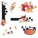 Design elements. Set of floral design elements Royalty Free Stock Image