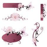 Design elements. Set of floral design elements Stock Images