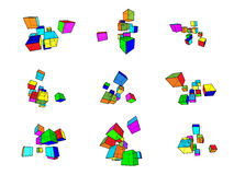 Design elements. Collection of abstract geometric design elements Stock Image