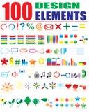 Design elements. More than 100 design elements for your business artwork stock illustration