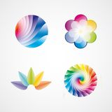 Design elements. Collection of abstract logo elements and icons Stock Photos