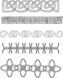 Design elements. Ancient religious design elements seamless   form left  to right Royalty Free Stock Images
