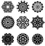 Design elements. Set of complex geometrical design elements Royalty Free Stock Photography