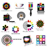 Design elements-2. Colorful design elements to use for corporate idendity or logo Stock Illustration