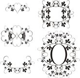 Design elements. Black & white floral design ellements Royalty Free Stock Photo