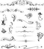 Design elements. Vector set design elements and page decoration Stock Image