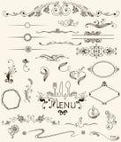 Design elements. Set design elements and page decoration Stock Photo