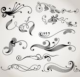 Design elements. Set  design elements and page decoration (black Royalty Free Stock Photo