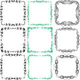 Design elements. Decorated borders and frames design elements Stock Image