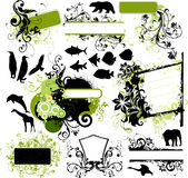 Design elements. Illustration drawing of design elements Royalty Free Stock Photography