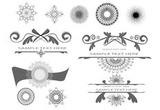 Design elements. Decorative design elements for page Stock Photography