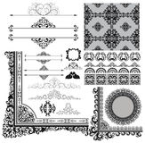 Design elements. Collection of various vintage design elements, eps8 Royalty Free Stock Images