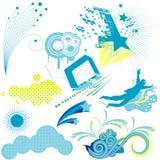 Design elements. Illustration drawing of floral background Stock Illustration