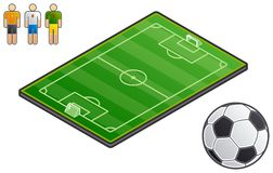 Design Elements 48a. Sport-field Stock Photo