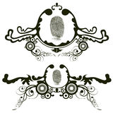 Design elements. Illustration drawing of grunge design elements. Size and color can be changed Royalty Free Stock Photos