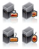Design Elements 51e. Internet Computer and Software Icons Set. Are a high resolution image with CLIPPING PATH for easy remove unwanted shadows underneath Royalty Free Stock Images